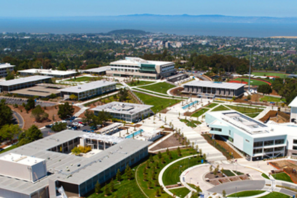 Ariel view of College
